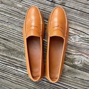 Tod's Caramel Leather Loafers